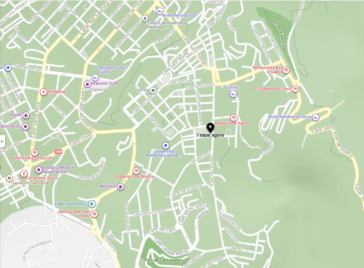Mapa Àgora